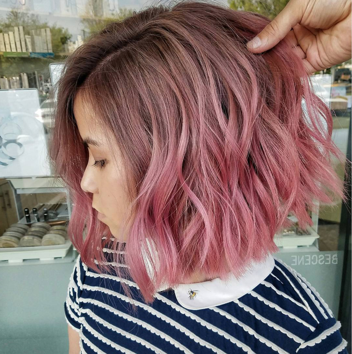 Current Pink Medium Hairstyles Throughout 35 Hottest Short Ombre Hairstyles For 2019 – Best Ombre Hair Color Ideas (View 9 of 20)