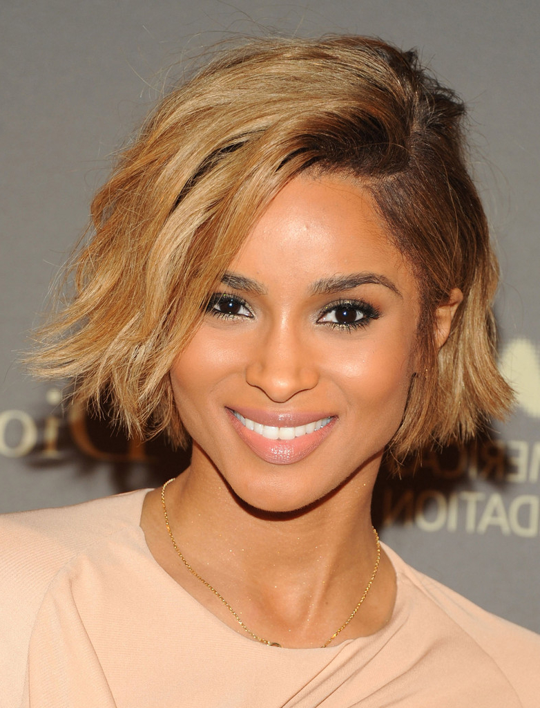 Current Sexy Medium Haircuts For Black Women Regarding Check Out Ciara Rocking A Sexy Chin Length Bob Haircut – The Style (View 8 of 20)