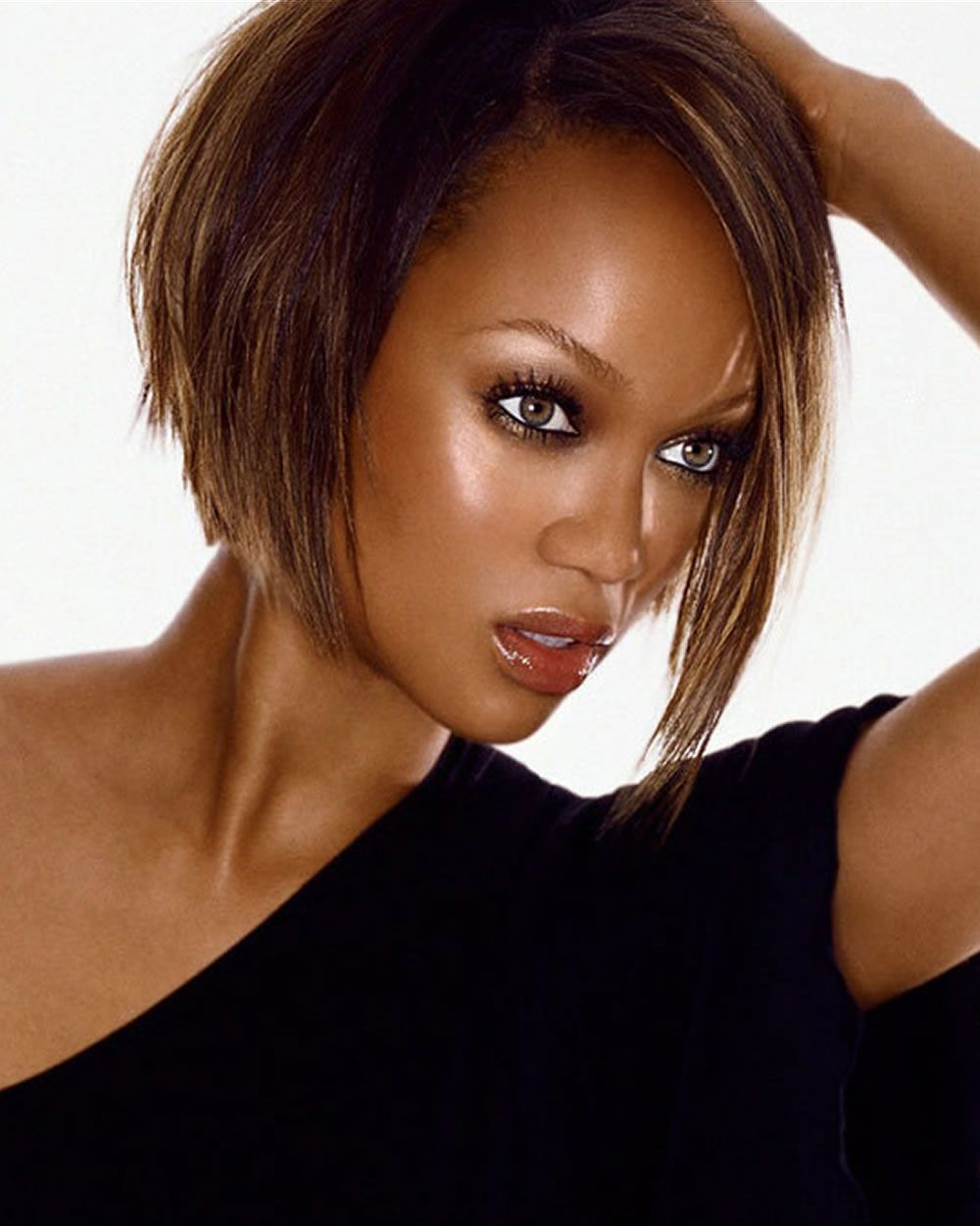 Current Tyra Banks Medium Hairstyles In Short Bob Hairstyle Inspirations (View 6 of 20)