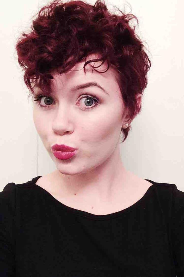 Cute Full Face Short Curly Pixie Hairstyles – Google Search (View 8 of 20)