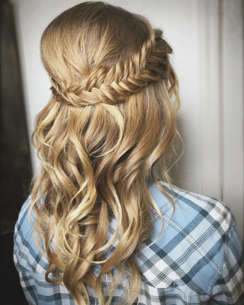 Cute Stock Of Prom Hairstyles For Medium Hair Half Up Formal Down With Regard To 2017 Cute Medium Hairstyles For Prom (View 12 of 20)