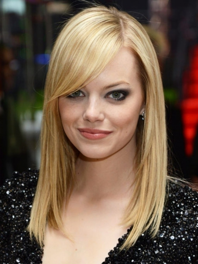 Details Of Hairstyles With Side Swept Bangs Medium Length Intended For Best And Newest Side Swept Bangs Medium Hairstyles (View 7 of 20)