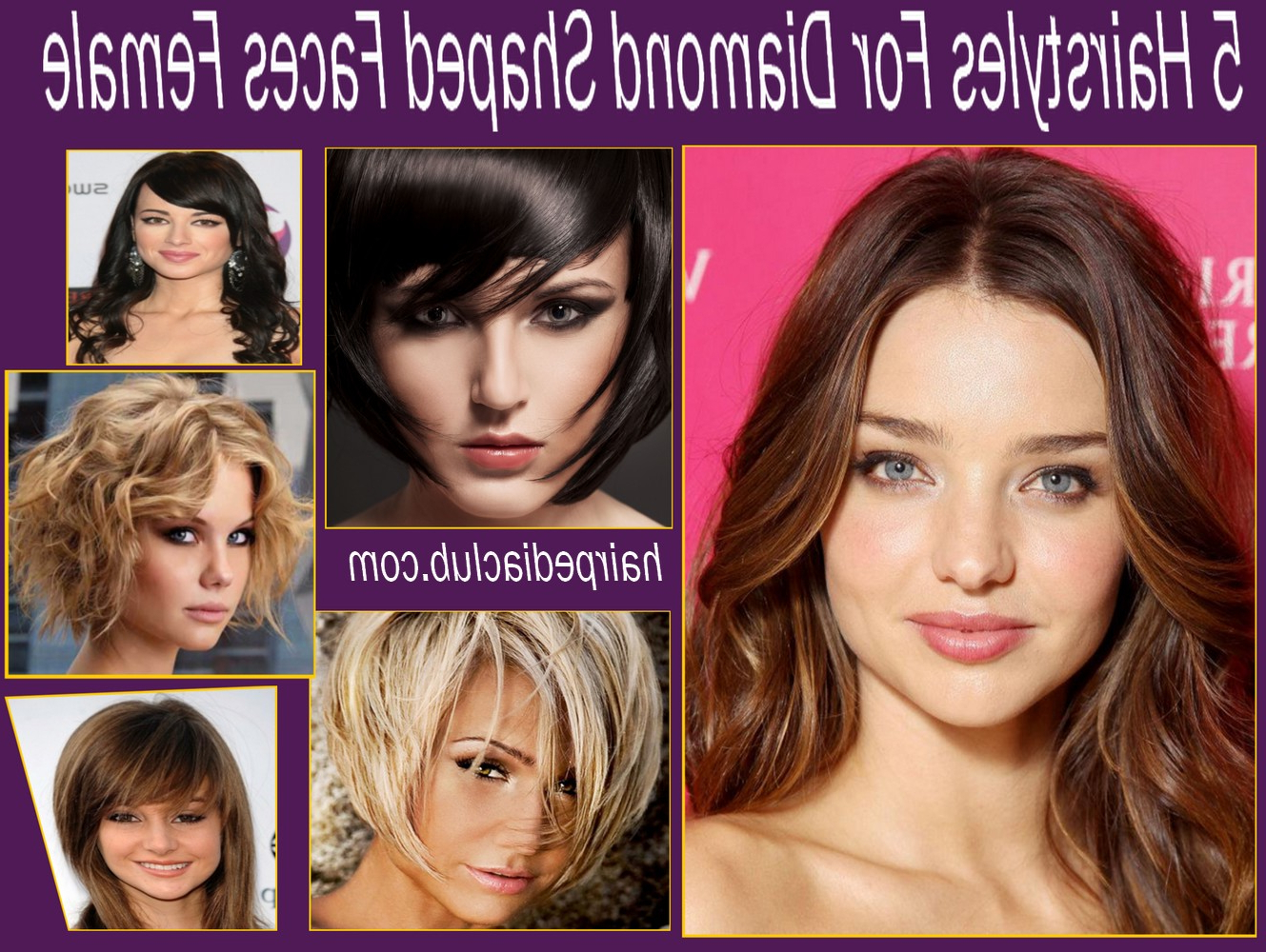 Diamond Face Cut Hair Style – Hairstyles Ideas And Wedding Trendings Within Preferred Medium Hairstyles For Pear Shaped Faces (View 3 of 20)