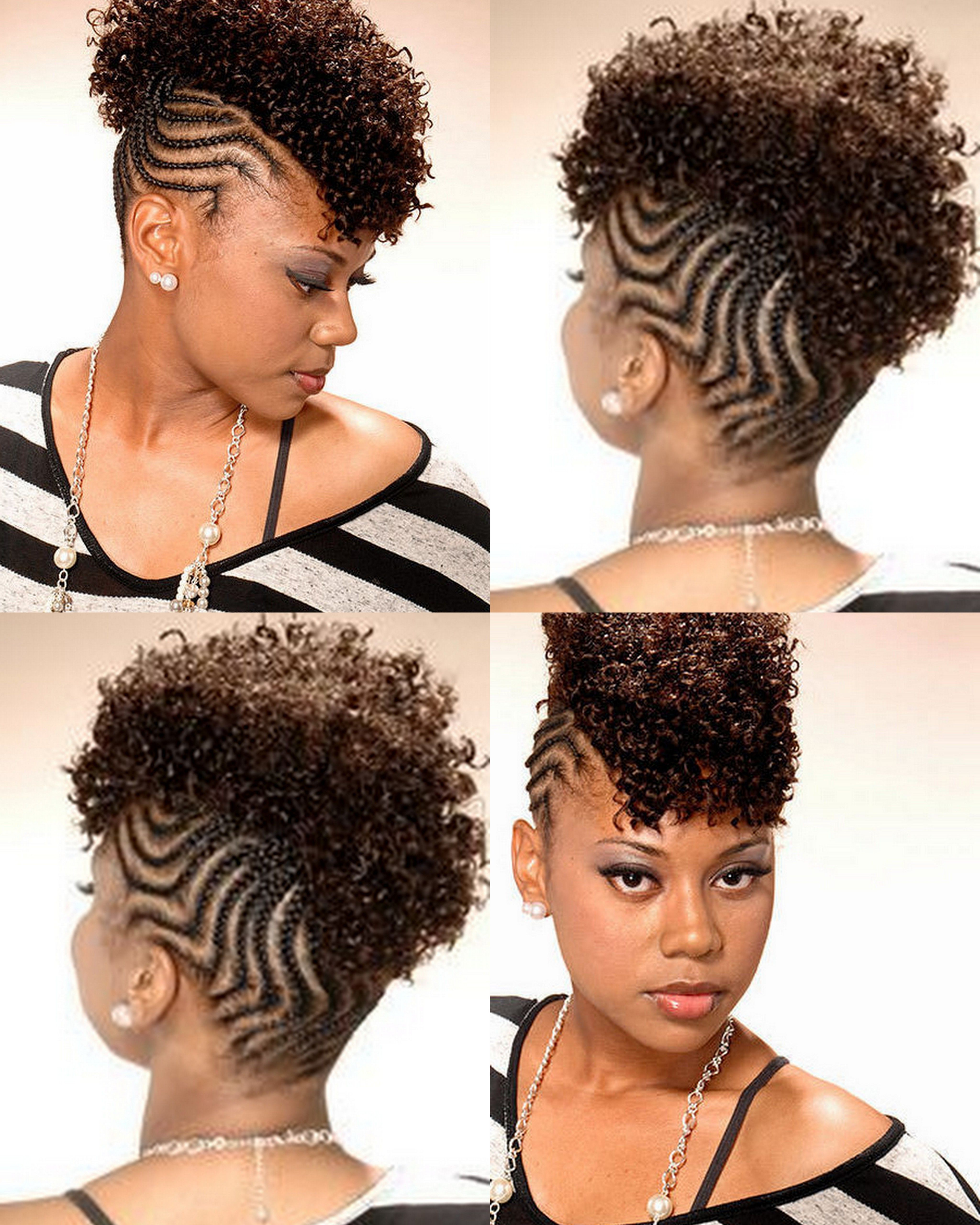 Don't Know What To Do With Your Hair: Check Out This Trendy Ghana In Favorite Classy Wavy Mohawk Hairstyles (View 14 of 20)