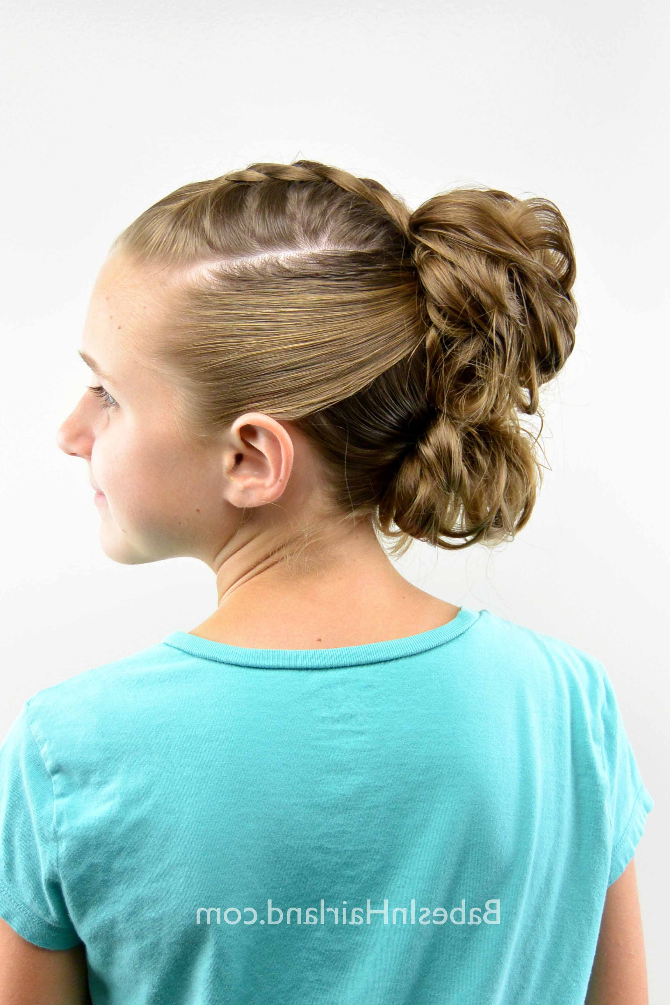 Dutch Braid Messy Bun Fauxhawk – Babes In Hairland Regarding Most Popular Messy Braided Faux Hawk Hairstyles (Gallery 5 of 20)