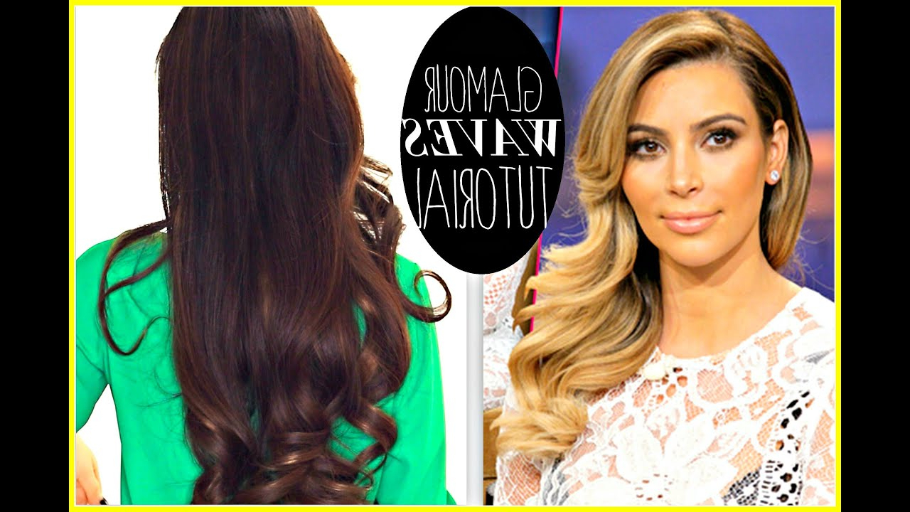 ☆ Kim Kardashian Everyday Old Hollywood Curls (View 1 of 20)