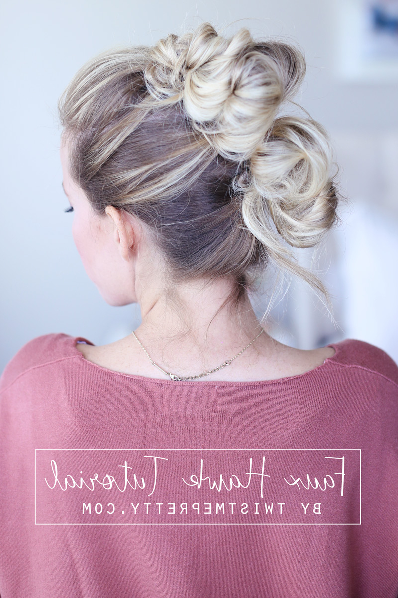 Easy Faux Hawk Tutorial – Abby Of Twist Me Pretty Intended For Well Known Messy Braided Faux Hawk Hairstyles (View 11 of 20)