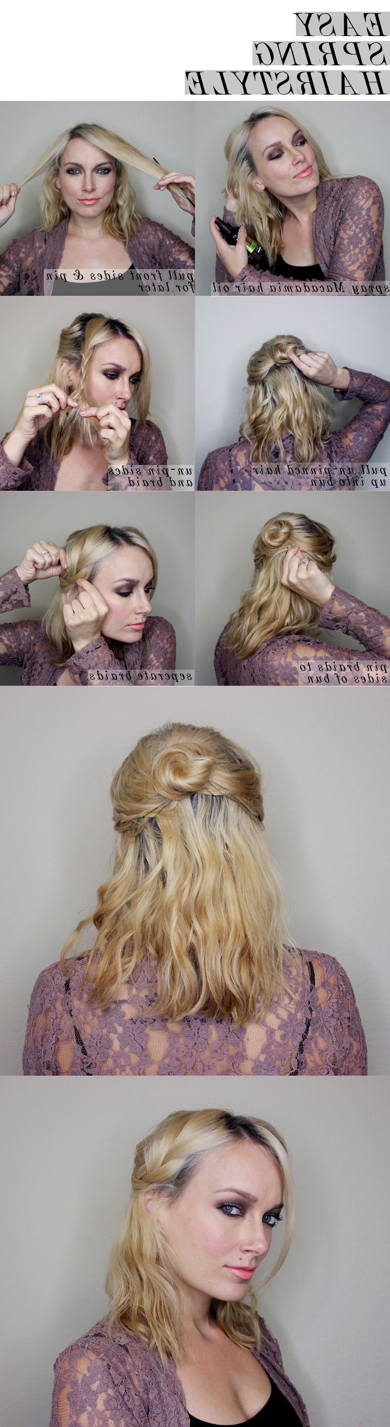 Easy Spring Half Updo For Medium Length Hair – Citizens Of Beauty Throughout Favorite Medium Hairstyles For Spring (View 4 of 20)