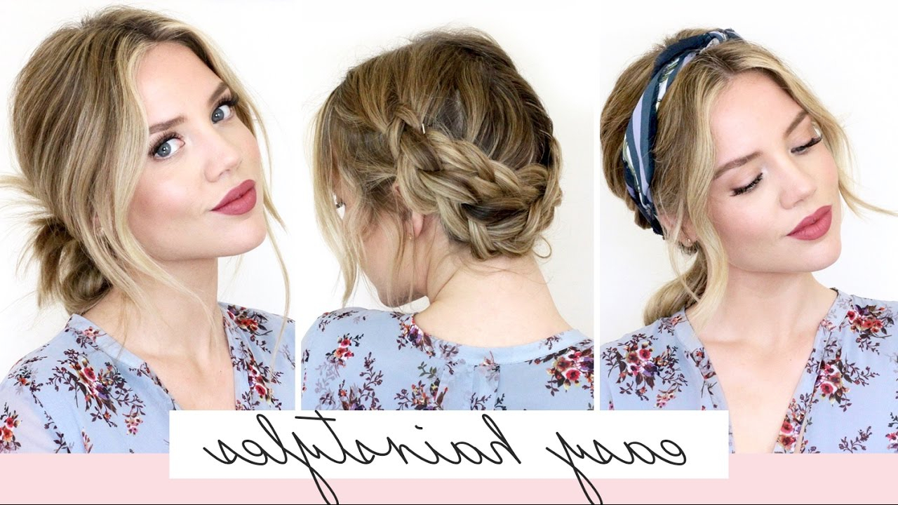 Easy Updos Medium Hair 5 Easy Hairstyles For Short/medium Length Inside Well Liked Medium Hairstyles For Spring (View 8 of 20)