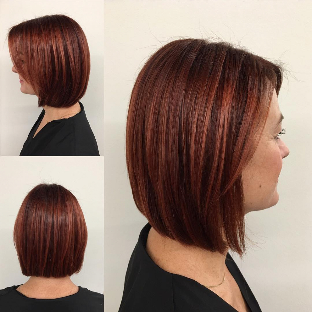 Elegant Gallery Of Medium Hairstyles With Red Highlights – Panmaneee Within Well Liked Medium Hairstyles With Red Highlights (Gallery 19 of 20)