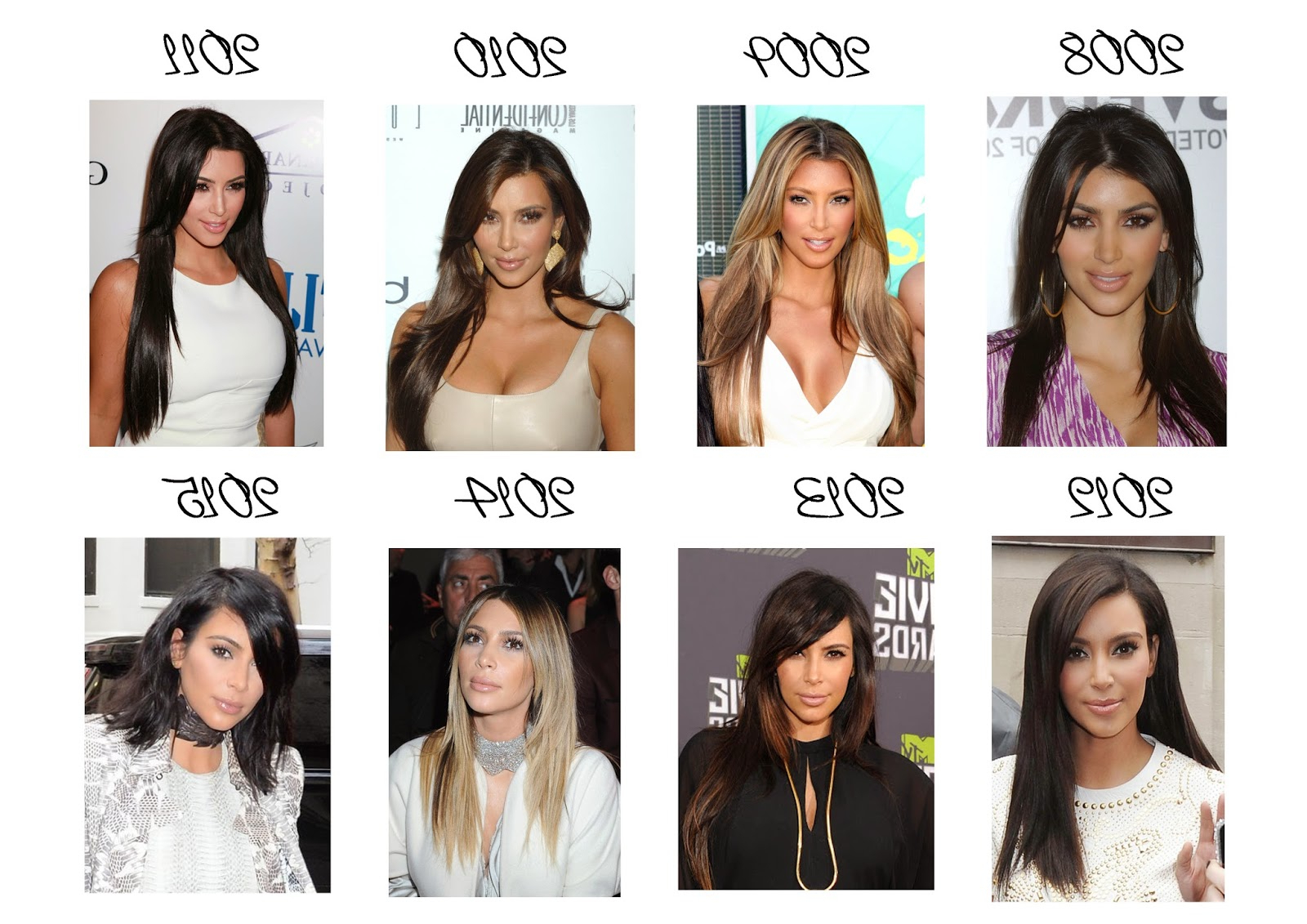 Emovia Catalina: Kim Kardashian's Hairstyles Throughout Well Liked Kim Kardashian Medium Hairstyles (View 5 of 20)