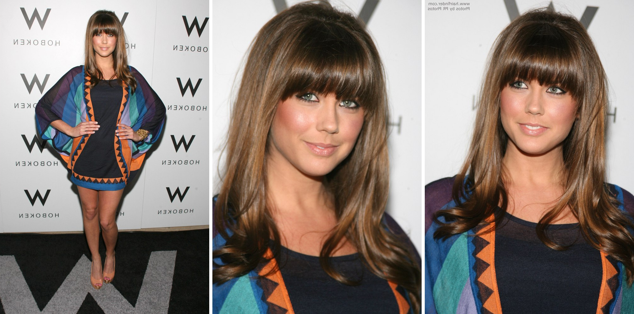 Erin Lucas Youthful Hairstyle With Bangs Over The Brwos And Lauren For 2018 Lauren Conrad Medium Haircuts (Gallery 13 of 20)
