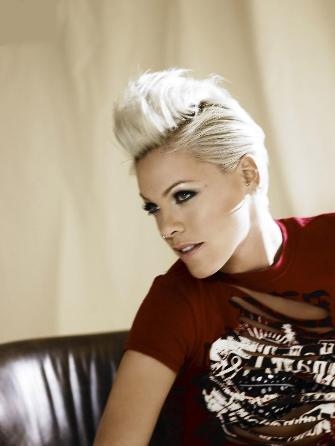 Famous Bleached Feminine Mohawk Hairstyles Intended For P!nk Hair Mohawk P Nk Hair Mohawk P Nk Hair (View 8 of 20)