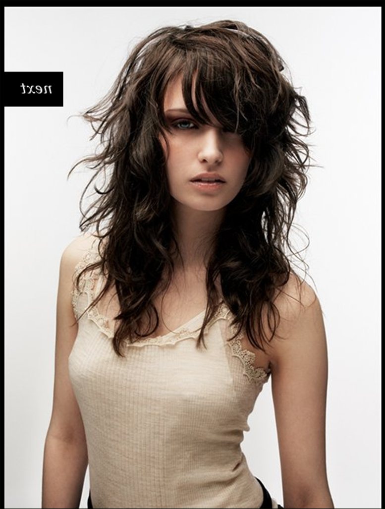 Famous Choppy Waves Hairstyles Inside Long Choppy Layers Side Swept Bangs For People Who Have Wavy Hair (View 9 of 20)