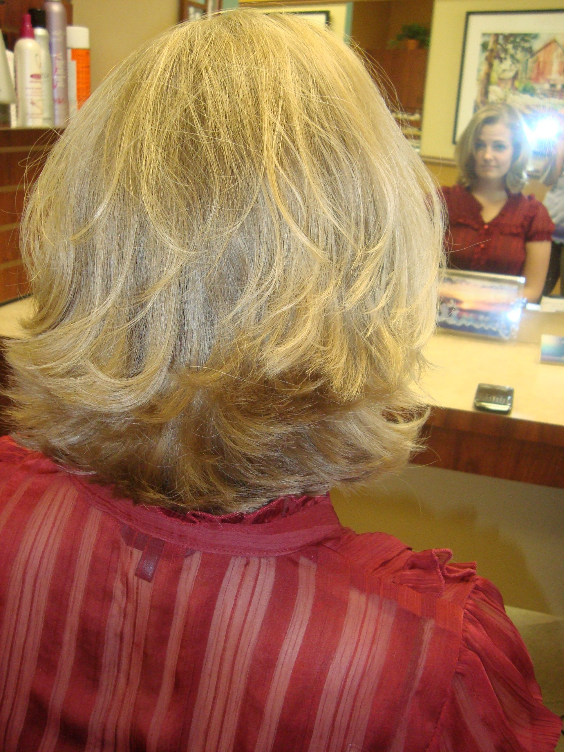 Famous Flipped Medium Hairstyles With Short, Thick, And Blonde Flipped Hair, Low Maintenance And Cute (View 10 of 20)