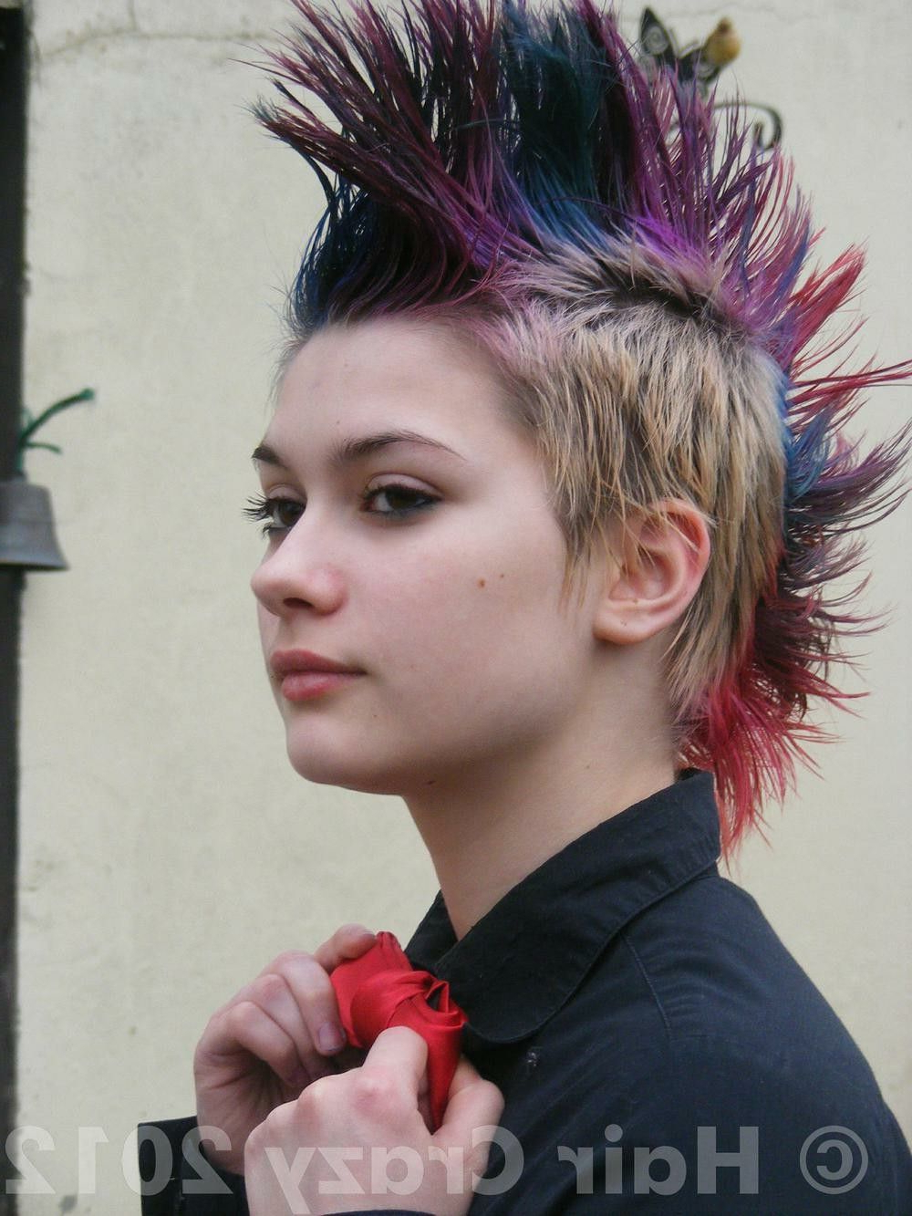 Famous Hot Pink Fire Mohawk Hairstyles Regarding Pinjohn M On Punk Rock , Metal, Grunge In (View 15 of 20)