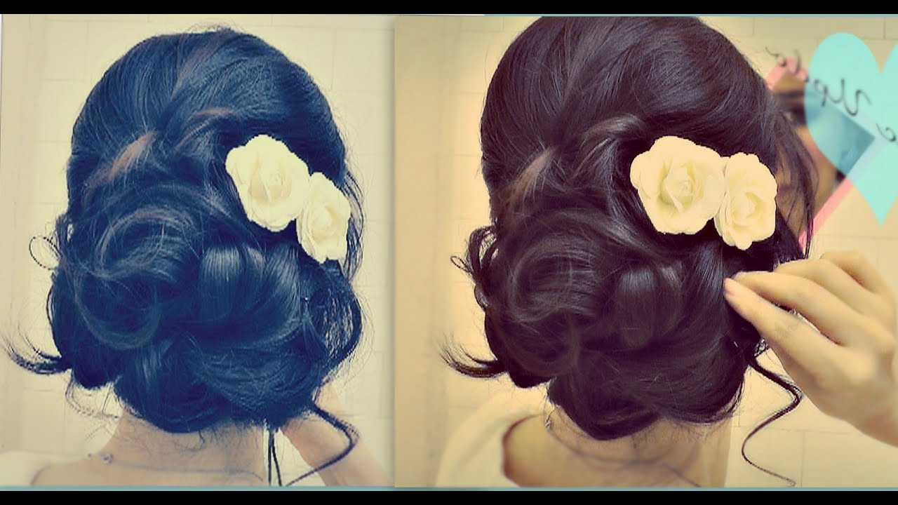 Famous Medium Hairstyles For Brides Regarding ☆ Easy Wedding Updo With Curls (View 7 of 20)