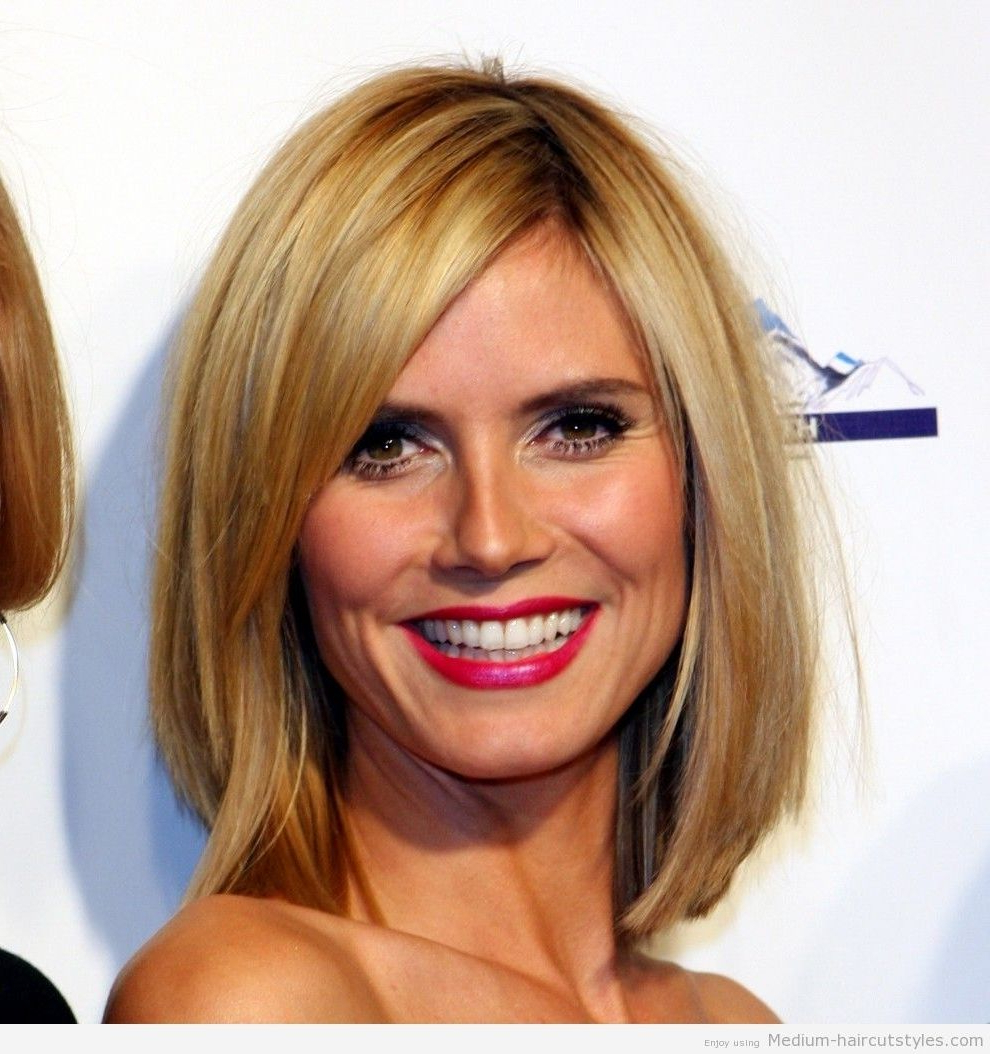 Famous Medium Hairstyles For Round Faces And Fine Hair With Regard To Best Shoulder Length Haircuts For Fine Hair Best Short Hairstyles (View 9 of 20)