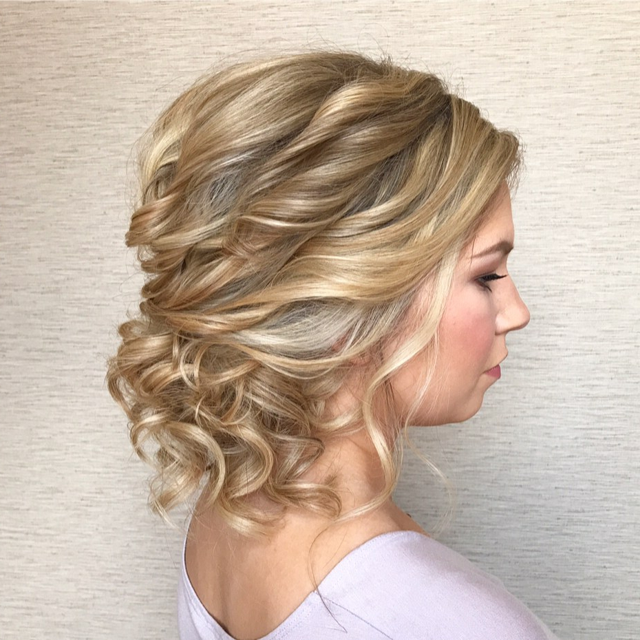 Famous Medium Hairstyles Formal Occasions Regarding Updos For Medium Hair, Easy Hairdos For Medium Hair (2018) (View 5 of 20)