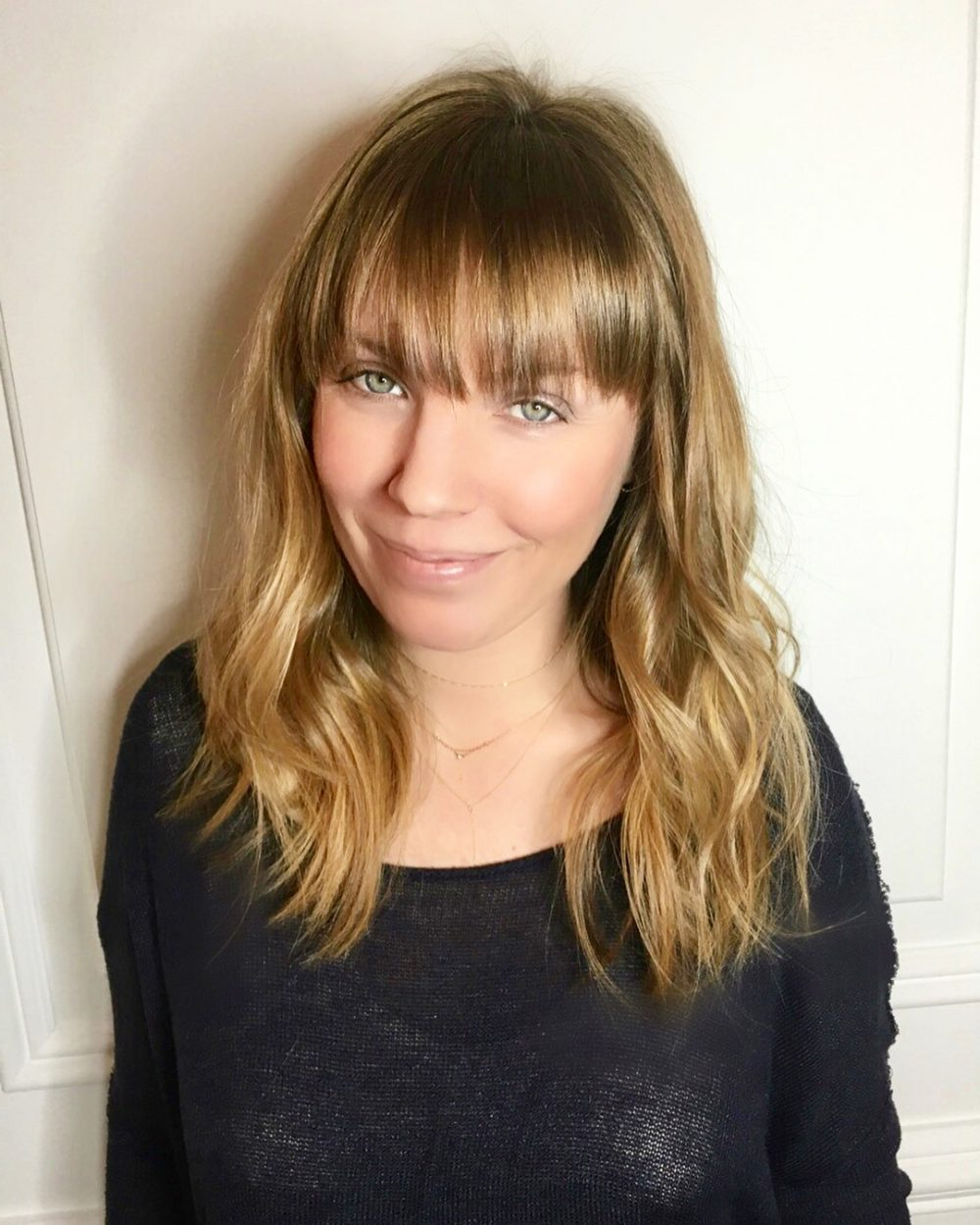 Famous Medium Hairstyles With Wispy Bangs Regarding 53 Popular Medium Length Hairstyles With Bangs In (View 12 of 20)