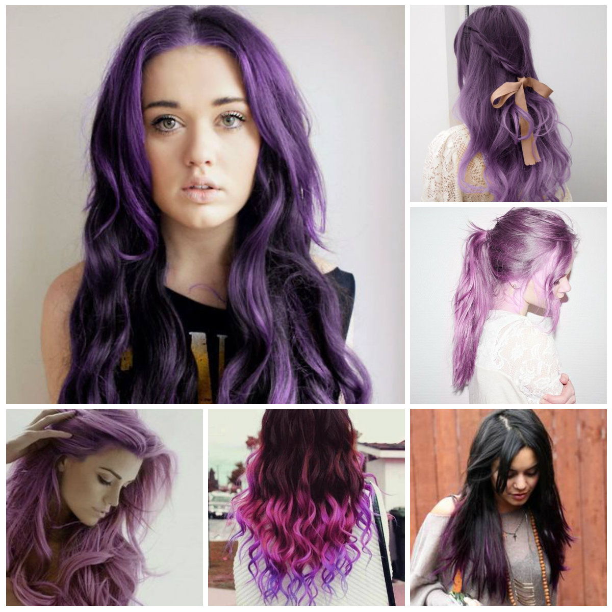 Famous Purple Medium Hairstyles Intended For Super Trendy Purple Hair Colors – Trendy Hairstyles 2019 For Long (View 11 of 20)
