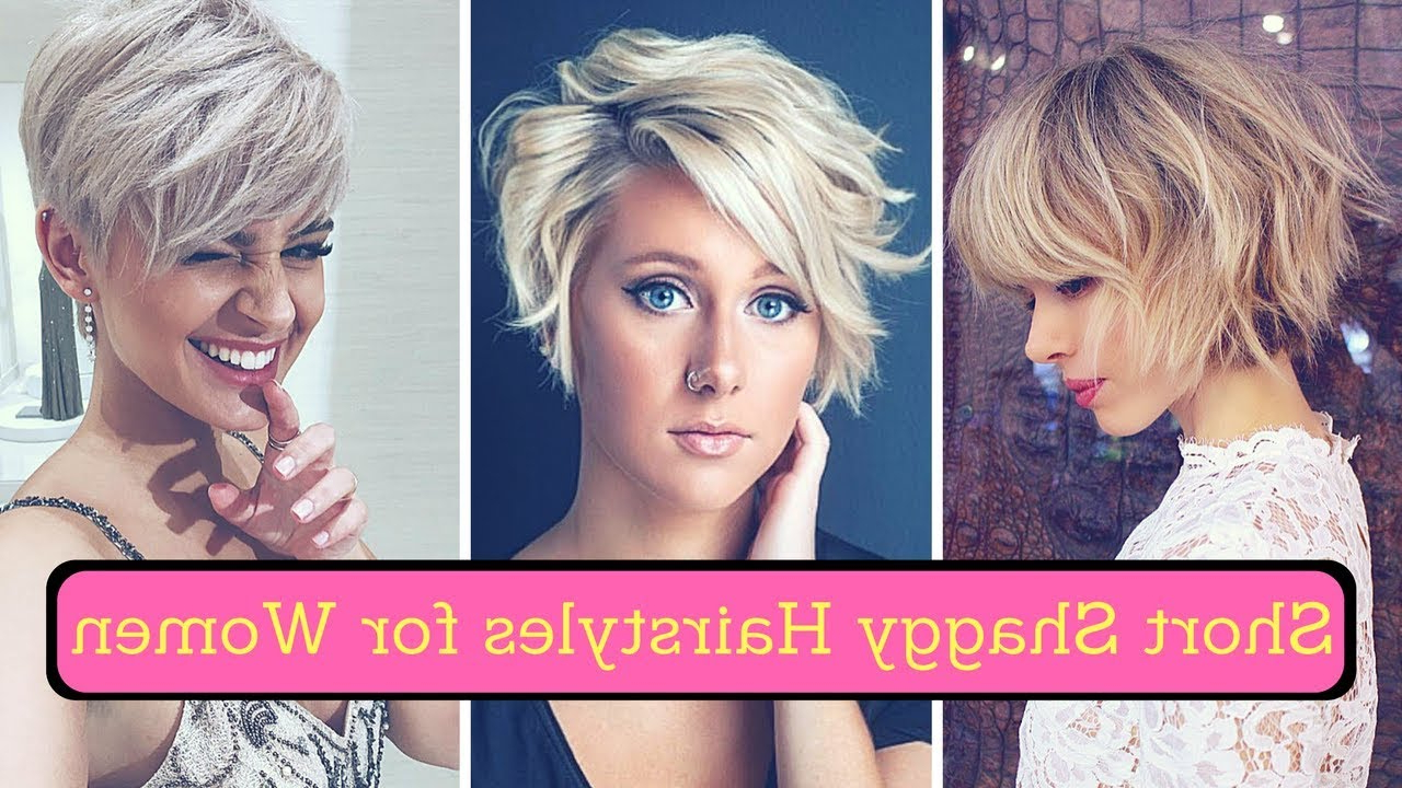 Famous Shaggy Medium Hairstyles Inside Short Shaggy Hairstyles For Women (2018) – Shag Haircuts Medium And (View 12 of 20)