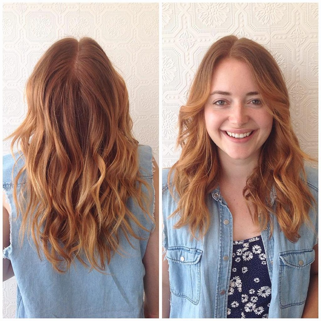 Famous Tousled Medium Hairstyles With Regard To Women's U Cut Layered Lob With Tousled Wavy Texture And Subtle (View 8 of 20)