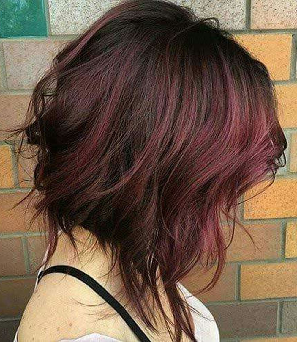 Fashionable Asymmetric Medium Haircuts With Asymmetrical Short Haircuts With Balayage Highlights 2018 – 2019 (Gallery 7 of 20)