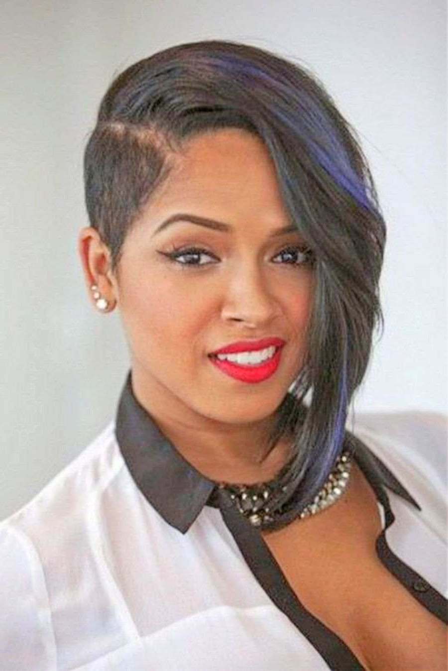 Fashionable Asymmetrical Medium Haircuts Regarding Women Hairstyle : Short Asymmetrical Haircuts For Black Hair Women (View 6 of 20)