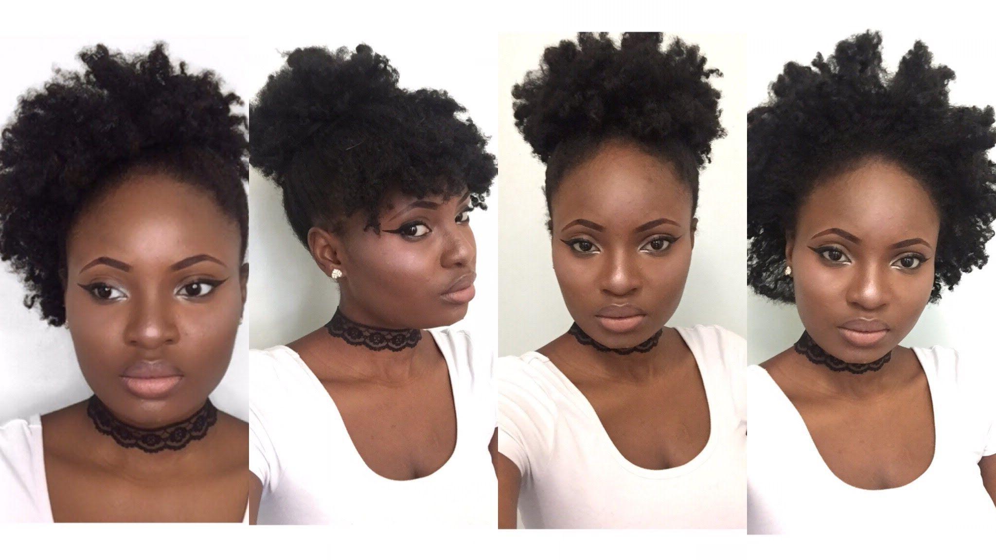 Fashionable Black Women Natural Medium Hairstyles Regarding 4 Simple Back To School Hairstyles For Medium Natural Hair (4C (Gallery 4 of 20)