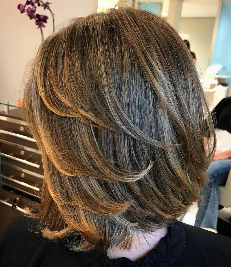 Fashionable Bob Haircuts With Symmetrical Swoopy Layers In 80 Sensational Medium Length Haircuts For Thick Hair (View 12 of 20)