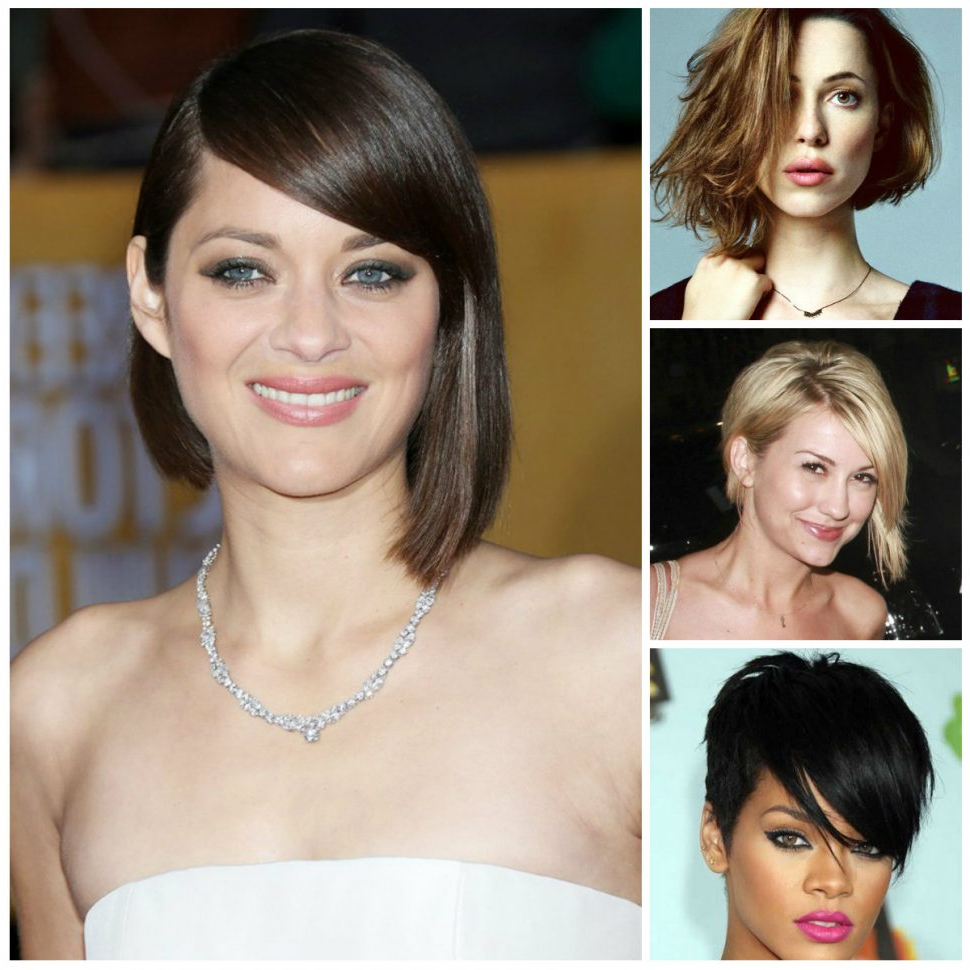Fashionable Celebrities Medium Haircuts In Women Hairstyle : Best Short Asymmetrical Haircuts From Celebrities (View 17 of 20)