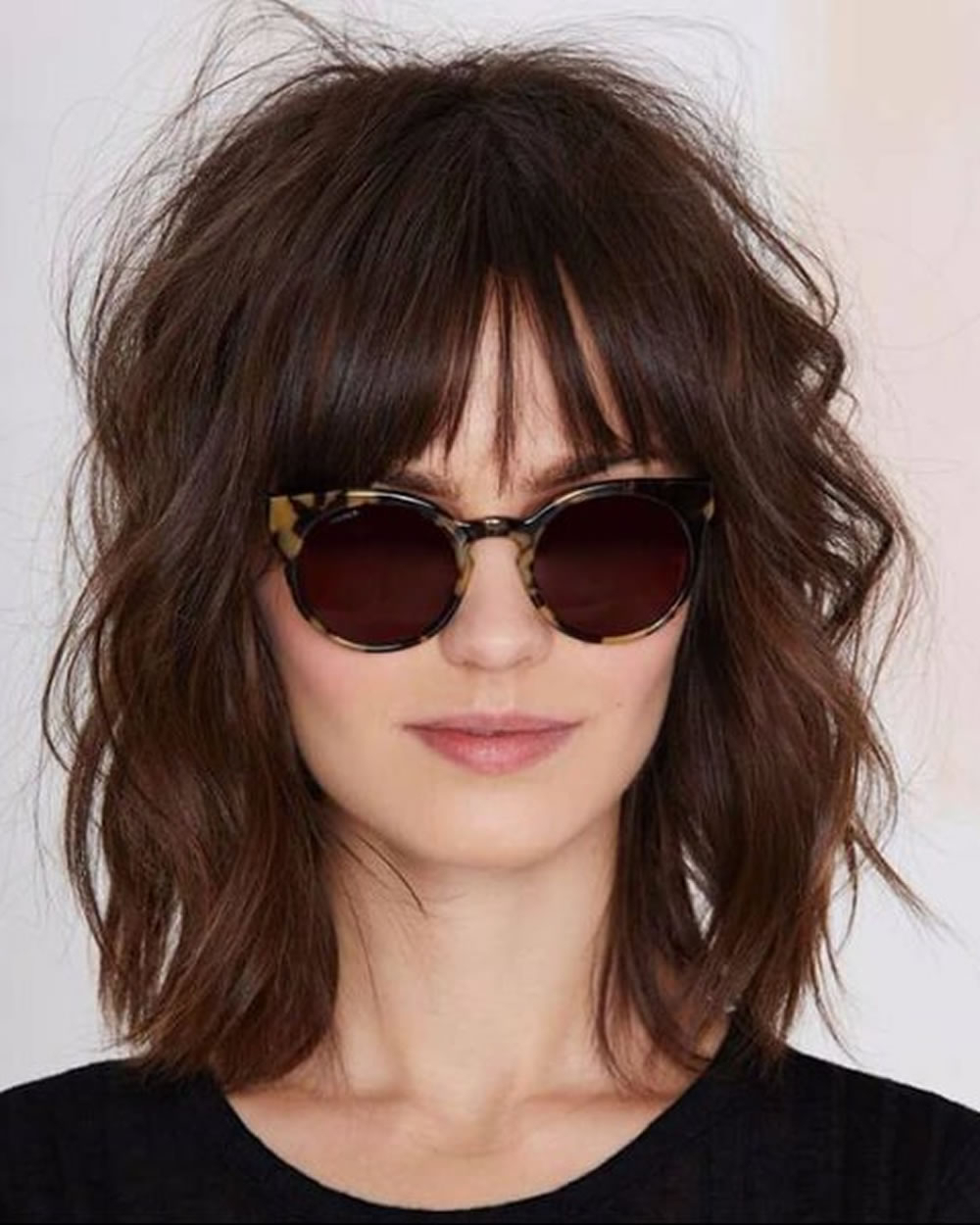 Fashionable Chic Medium Shag Hairstyles With Regard To Shaggy Medium Haircut 61 Chic Medium Shag Haircuts For  (View 11 of 20)
