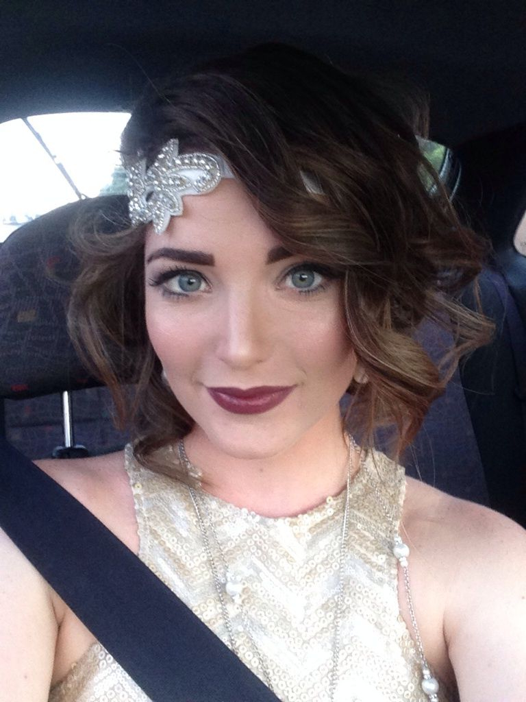 Fashionable Flapper Girl Medium Hairstyles In My Modern Take On 20s Makeup For My Work Christmas Party (View 16 of 20)