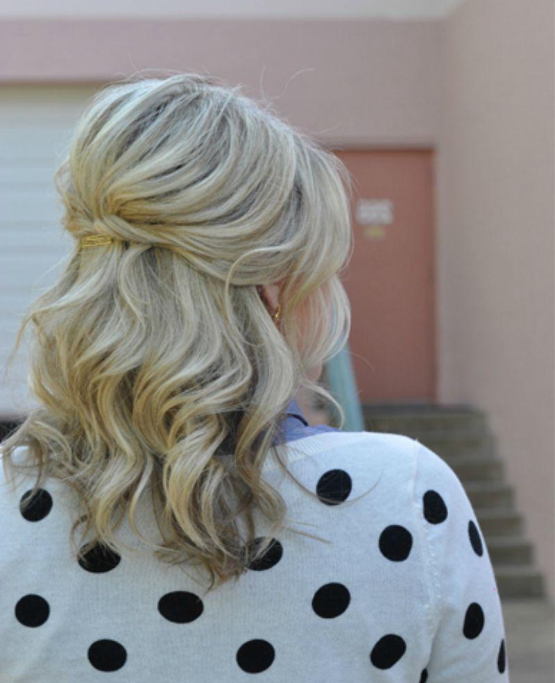Fashionable Half Up Half Down Medium Hairstyles With 25 Gorgeous Half Up, Half Down Hairstyles (View 5 of 20)