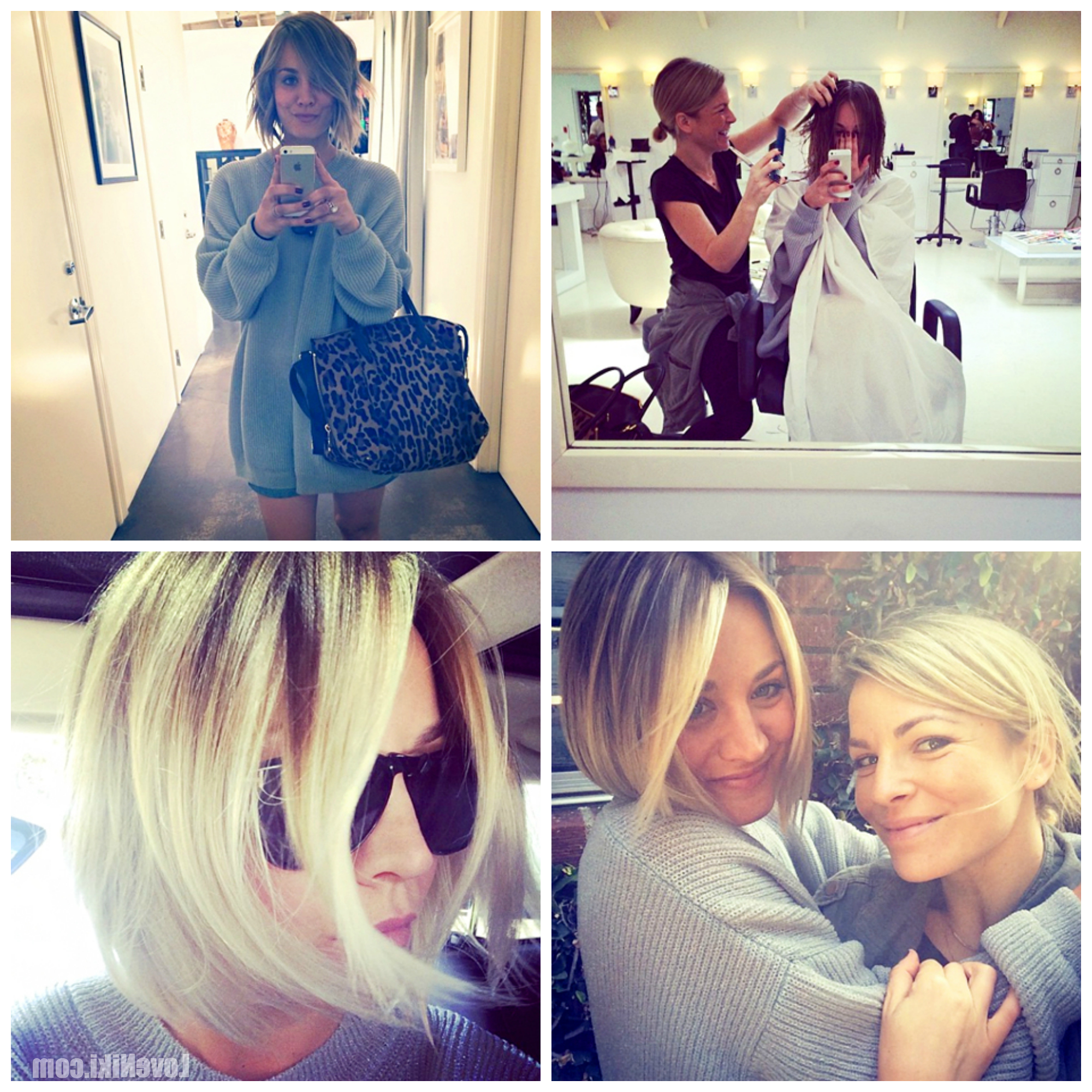 Fashionable Kaley Cuoco New Medium Haircuts Regarding Kaley Cuoco's New Haircut (View 5 of 20)