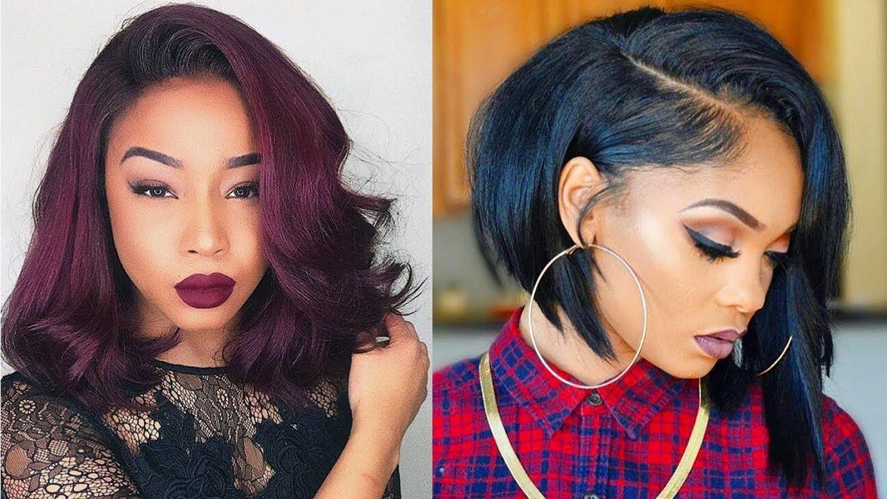Fashionable Medium Haircuts Black Women Throughout Trendy Bob Hairstyles 2019 Black Women – Bob Haircuts For Black (View 7 of 20)
