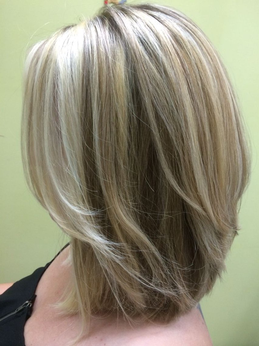 Fashionable Medium Haircuts For Blondes With Thin Hair Pertaining To Three Shades Of Blonde (View 8 of 20)