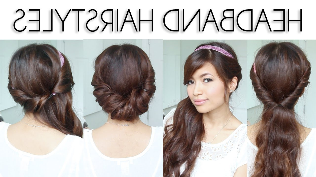 Fashionable Medium Haircuts With Headbands Intended For ♥ Easy Everyday Headband Hairstyles For Short And Long Hair (View 9 of 20)