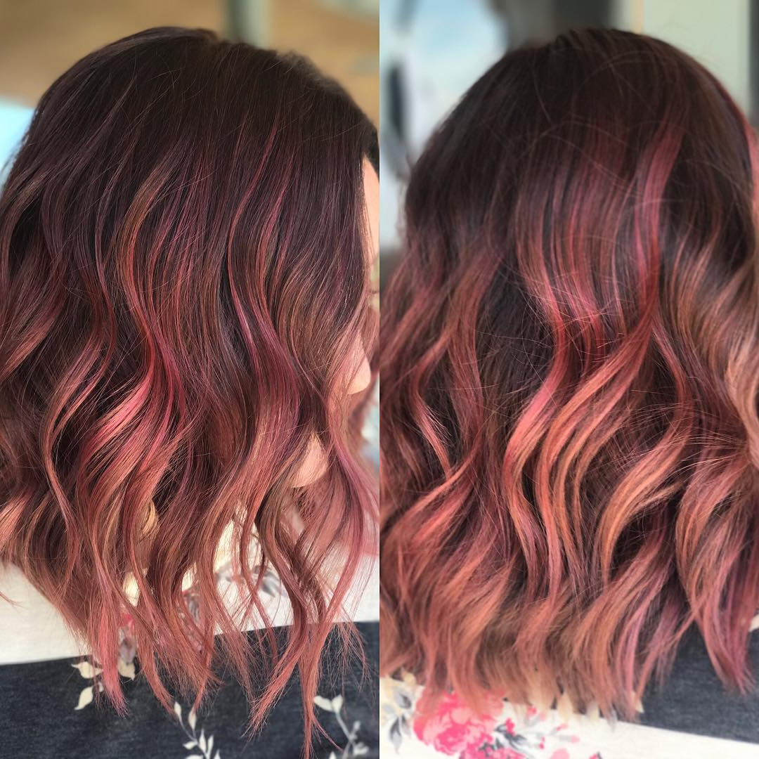 Fashionable Medium Haircuts With Red Color Intended For 10 Everyday Medium Hairstyles For Thick Hair 2019: Easy Trendy (Gallery 13 of 20)