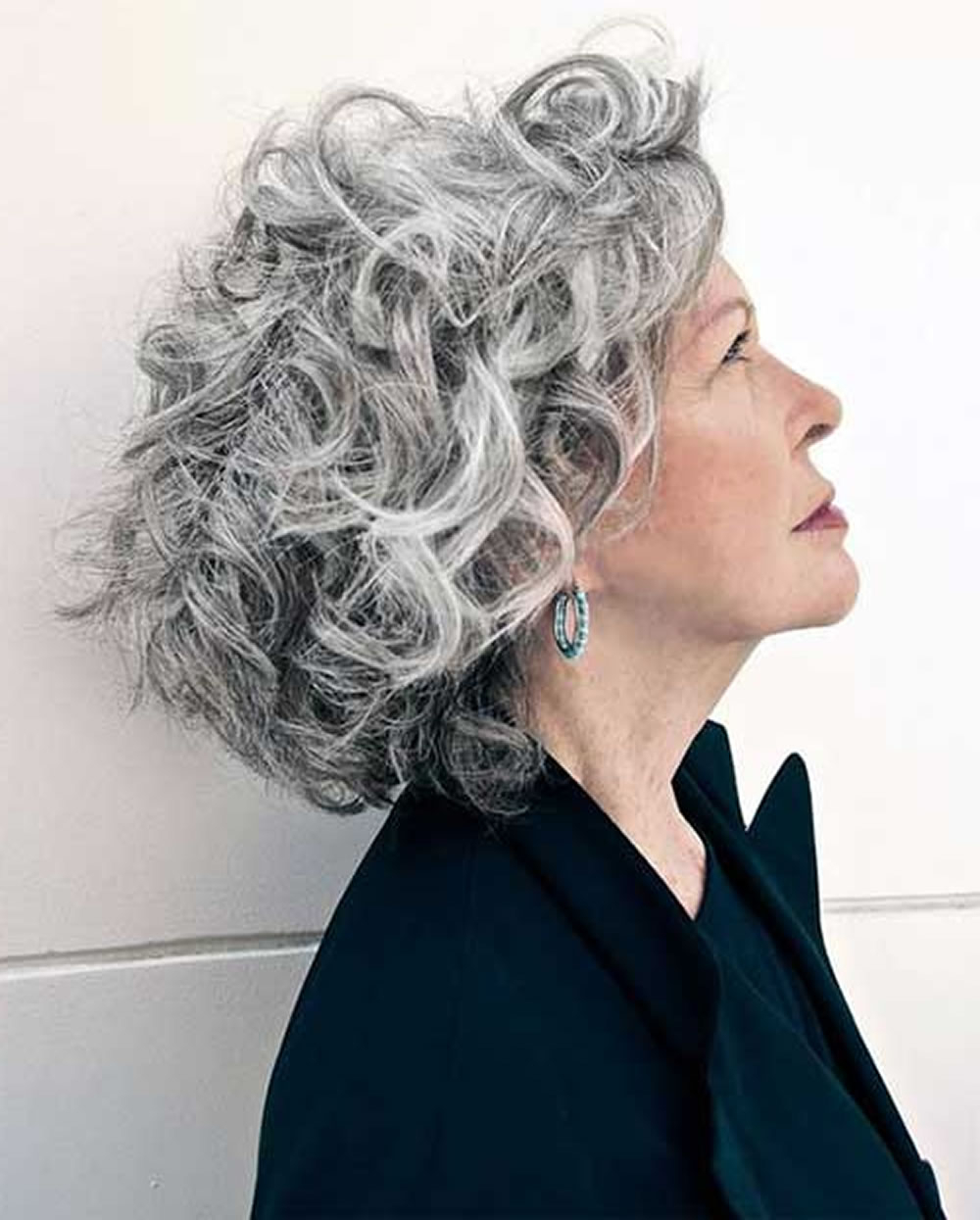 Fashionable Medium Hairstyles For Grey Hair In Short Gray Hairstyles For Older Women Over 50 – Gray Hair Colors (Gallery 19 of 20)