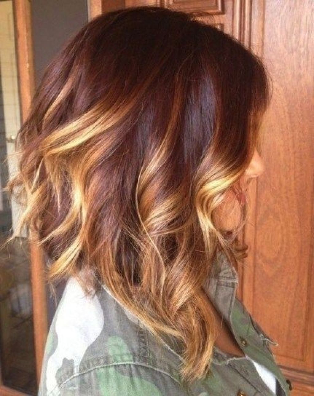 Fashionable Ombre Medium Hairstyles Intended For Ombre Hair Color On Medium Length Hair Hairstyle Haircut Ideas (View 7 of 20)