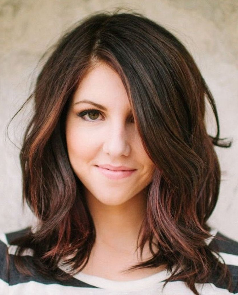 Fashionable Pictures Of Medium Hairstyles For Round Faces With Regard To Medium Hairstyle : Licious Cute Shoulder Length Haircuts For Round (View 16 of 20)