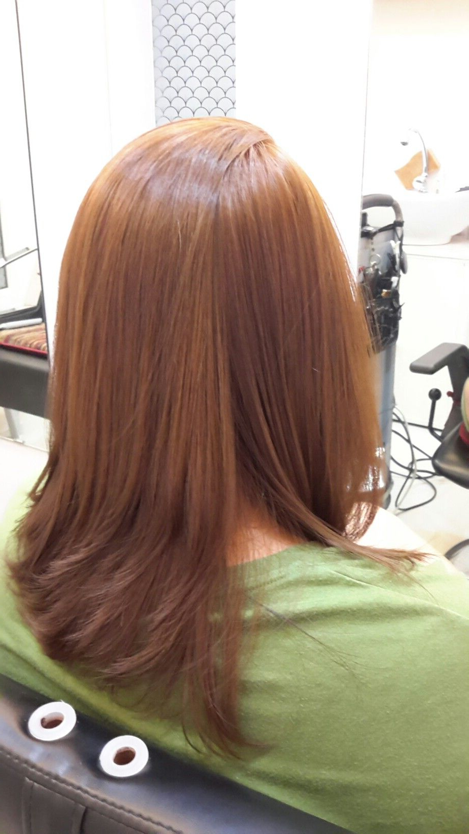 Fashionable Rebonded Medium Hairstyles For Used Lorèal Prof. Colors (View 2 of 20)