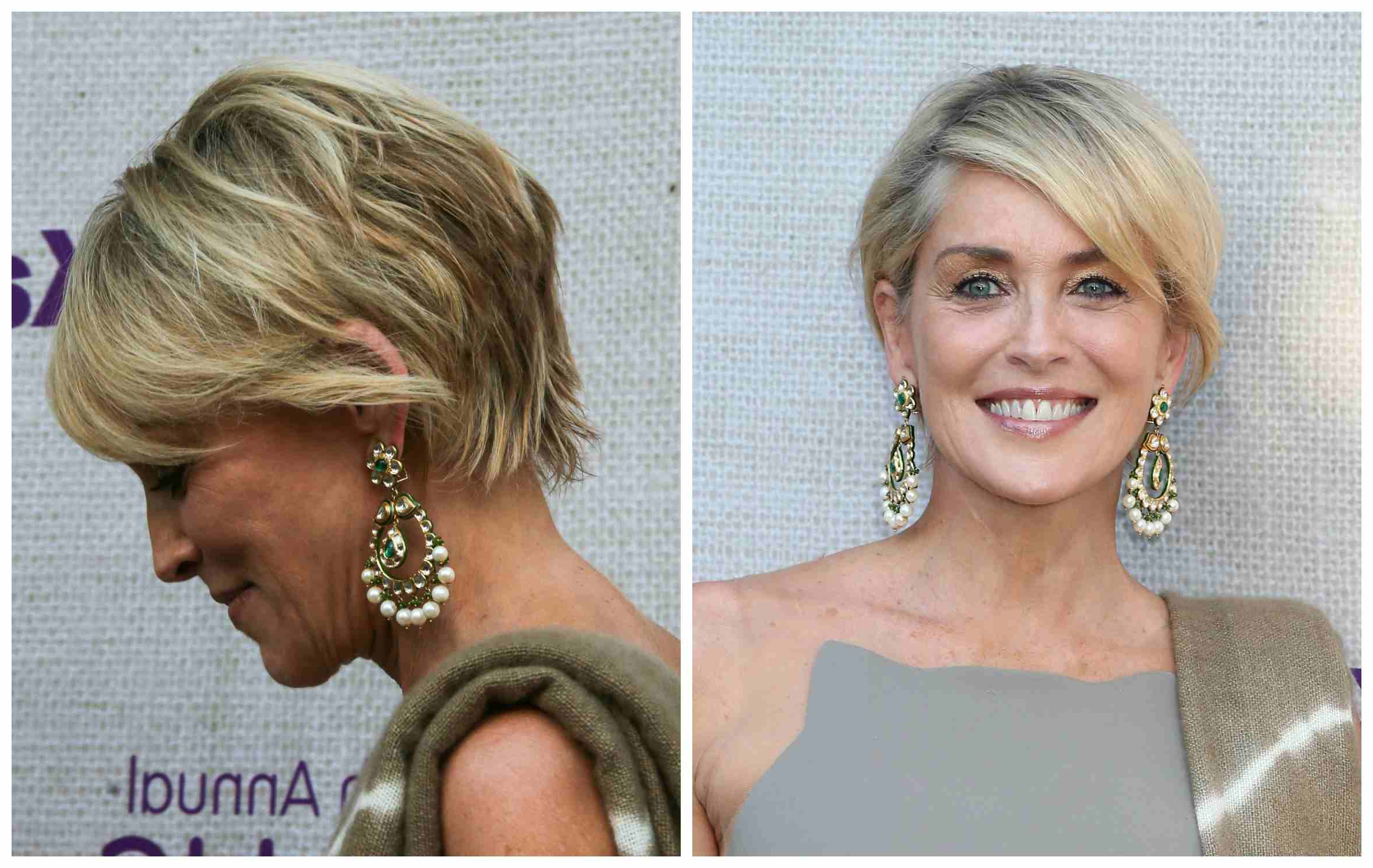 Fashionable Sharon Stone Medium Haircuts Within Over Age 50? Check Out These Flattering Hairstyles (View 5 of 20)