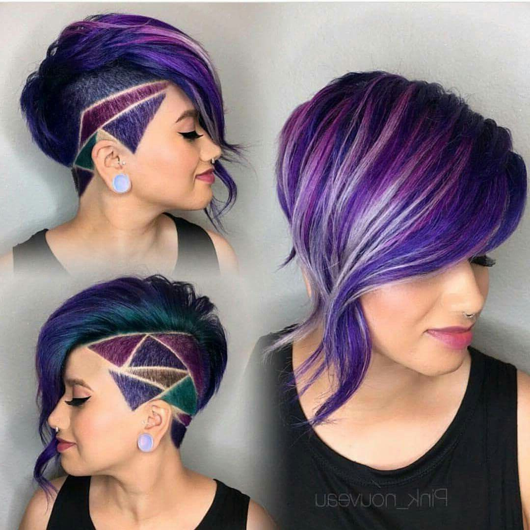 Fashionable Spiky Mohawk Hairstyles With Pink Peekaboo Streaks Within Great Multi Color Mohawk (View 6 of 20)