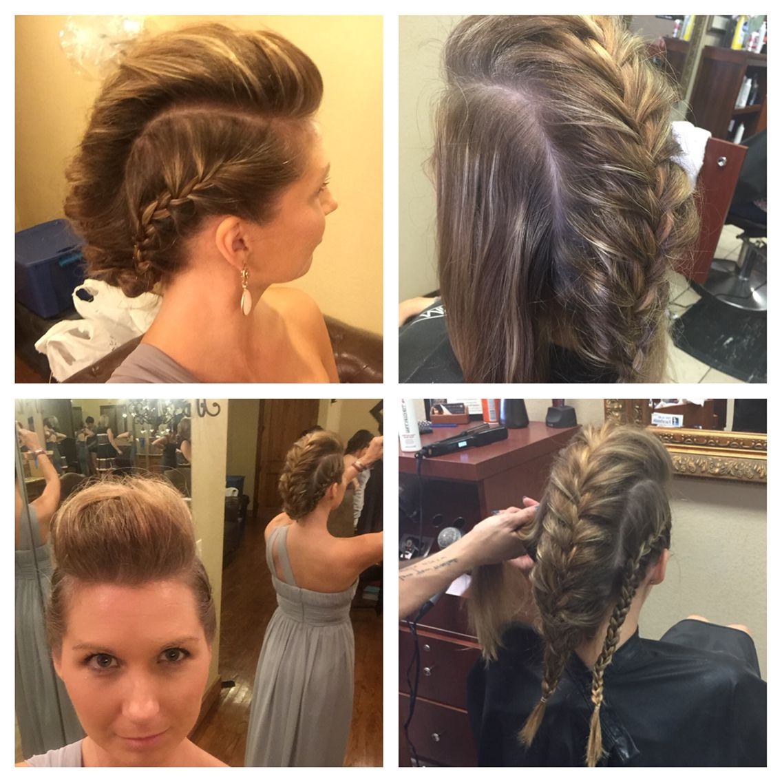 Faux Hawk French Braid Updo – Medium Length, Fine Hair, Thin Hair With Famous French Braid Pinup Faux Hawk Hairstyles (View 4 of 20)
