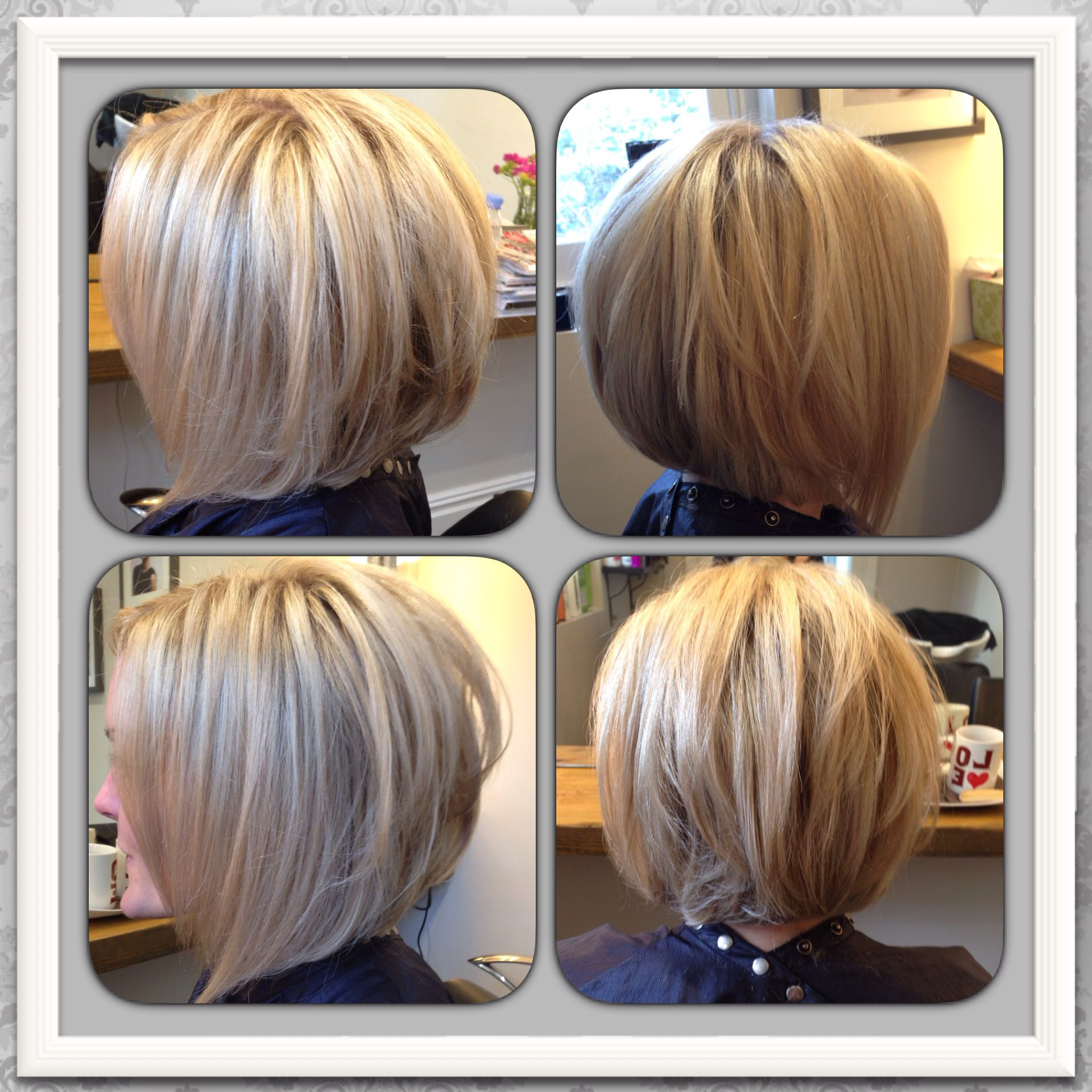 Favorite Graduated Medium Haircuts Throughout Love My New Hair! Blonde Highlighted Inverted / Graduated Bob (View 10 of 20)