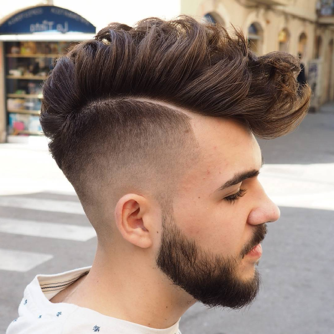 Favorite High Mohawk Hairstyles With Side Undercut And Shaved Design Inside 70 Amazing Sexy Faux Hawk Fade Haircuts – (New In 2018) (View 5 of 20)