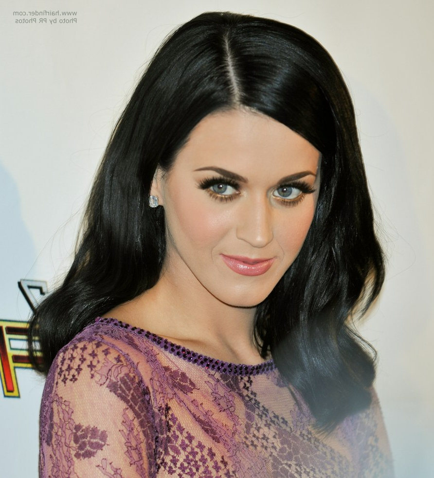 Favorite Katy Perry Medium Hairstyles Within Katy Perry With Blue Black Hair That Touches Her Shoulders (View 5 of 20)